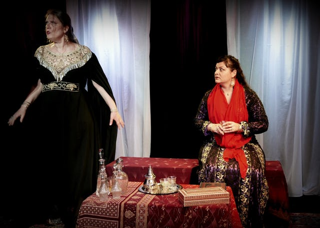 In France, playwright Malene Girot Daquin wrote a play about Tahirih, the heroic follower of the Bab who was the first woman to recognize Him as a Manifestation of God. The drama does not portray Tahirih as one of the actors, but some of her poems are recited.