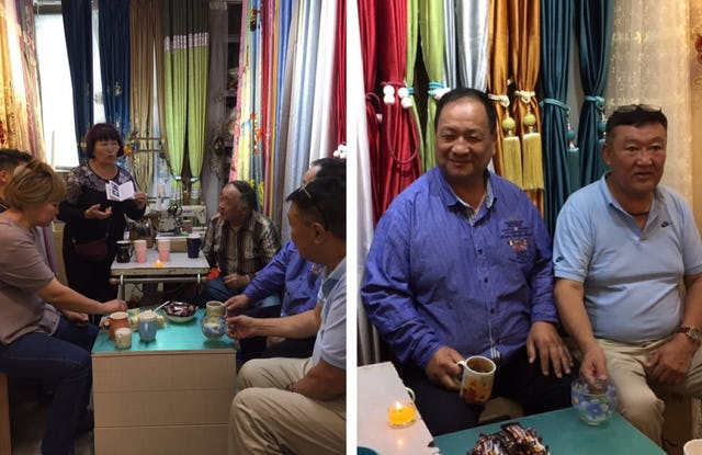 Shopkeepers in in Ulaanbaatar, Mongolia, pause for a moment in their busy day to reflect on profound questions about the spiritual dimensions of life. Their discussion draws inspiration from the life of the Bab and the relevance of the Baha'i teachings to the state of the world today.