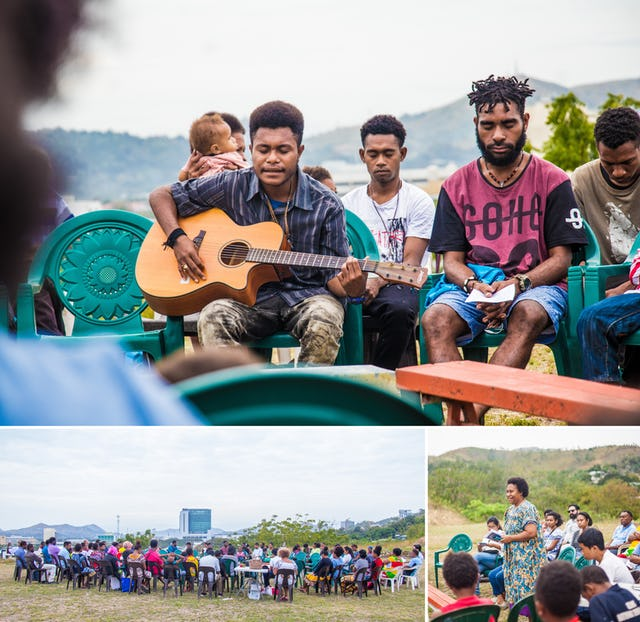 At the site of the future Temple in Port Moresby, Papua New Guinea, the community met for prayers on a recent national holiday, and young people spoke about the life of the Bab and the upcoming bicentenary.