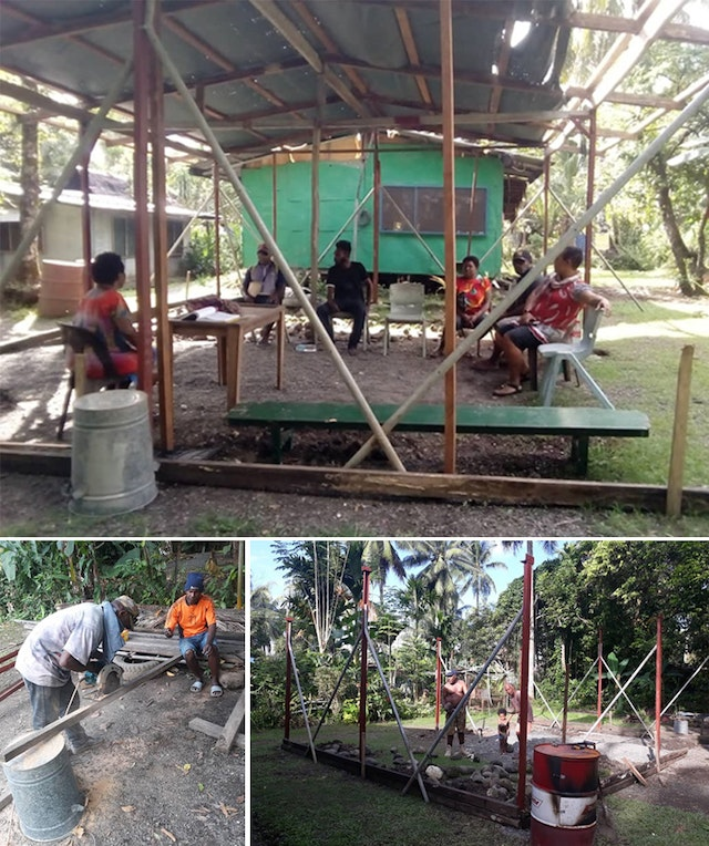 The community in Lae, Papua New Guinea, is raising a building to house educational activities, among its other initiatives specially planned for the bicentenary.