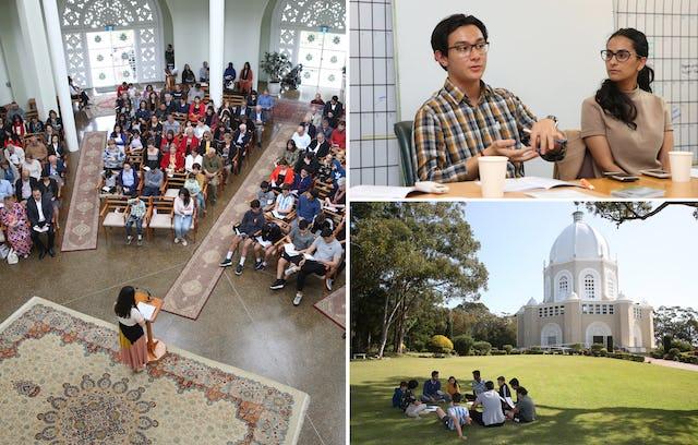 Au temple de Sydney, des réunions de prière et des séances pour réfléchir aux efforts de développement de la communauté ont régulièrement lieu à l'approche du bicentenaire.