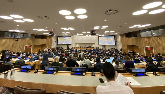 The Third Committee of the United Nations General Assembly today adopted a resolution that expresses its serious concern about Iran's continued attacks against religious minorities, including the Baha'is.