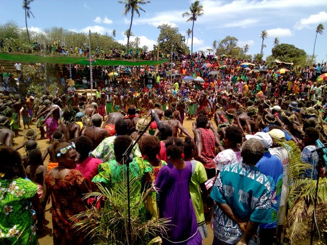 More than 2,000 people attended Sunday's joyous and unifying groundbreaking ceremony in the town of Lenakel, on the island of Tanna, Vanuatu.