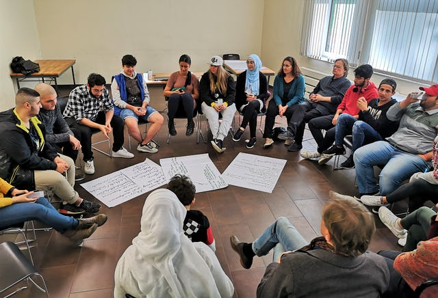 People of all ages attended a gathering in Hagen, Germany, to explore the role of youth in society.