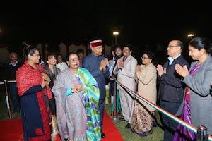 La communauté bahá'íe de l'Inde a organisé une réception pour le président du pays et plus de 160 dignitaires, dirigeants religieux et de la société civile, universitaires et artistes.