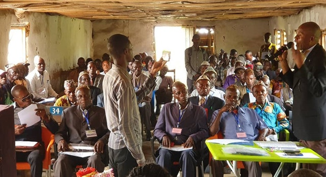 At a conference in Kakenge, Central Kasai, the Bahá'ís of the Democratic Republic of the Congo brought together some 60 village and tribal chiefs—many of whom were on opposing sides of armed conflict only a year ago—to explore paths towards a society characterized by principles such as harmony, justice, and prosperity.