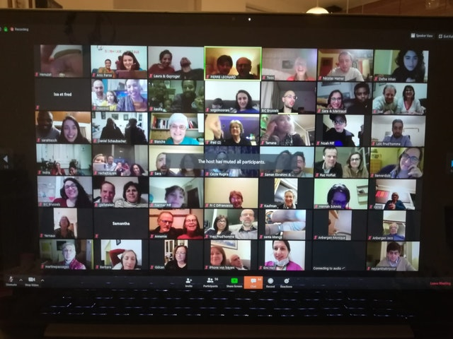 More than 180 people across Belgium and Luxembourg held a celebration together online, all connecting from their homes.