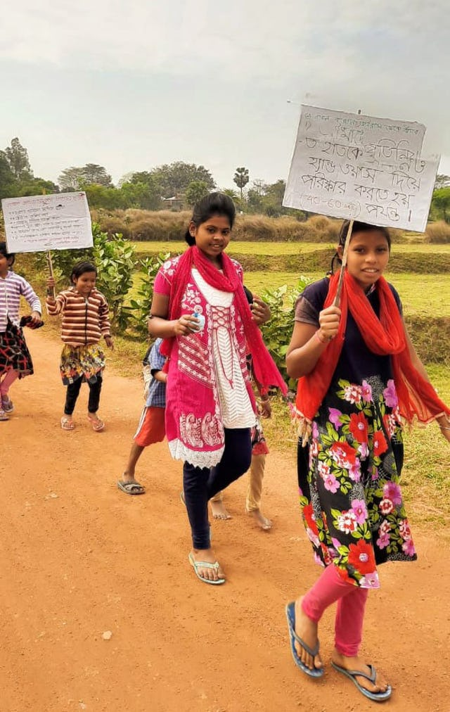 Children from India's Baha'i community took on a project to raise awareness of the coronavirus disease (COVID-19) and encourage sanitary practice well before their area was affected.