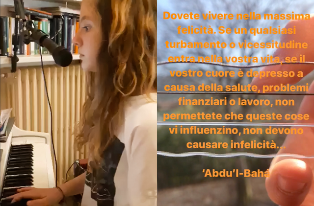 Youth in Italy are fostering a greater sense of unity during the current health crisis by offering songs and artistic presentations online.