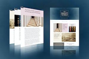 Dans le contexte de la pandémie de coronavirus, la publication en ligne de *The Bahá'í World* lance une série d'articles qui se concentrent sur les principaux problèmes auxquels sont confrontées les sociétés concernant leur vision de l'avenir.