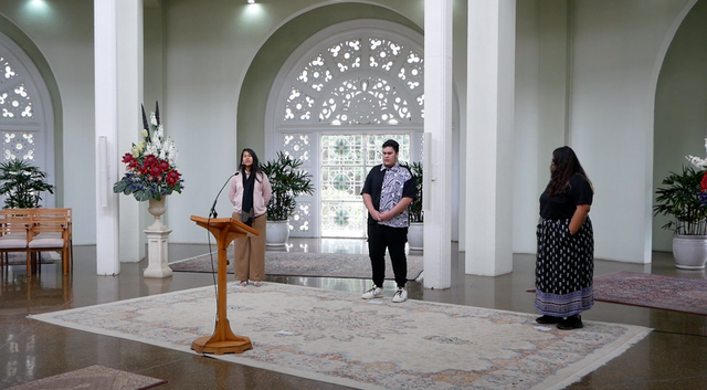Acts of devotion and generosity have come into greater focus in humanity's collective life this year. In places where Bahá'í Houses of Worship stand, live broadcasts of devotional programs and online gatherings for collective prayer—such as the one pictured here from the House of Worship in Australia—have brought many people together, allaying anxieties and inspiring hope.
