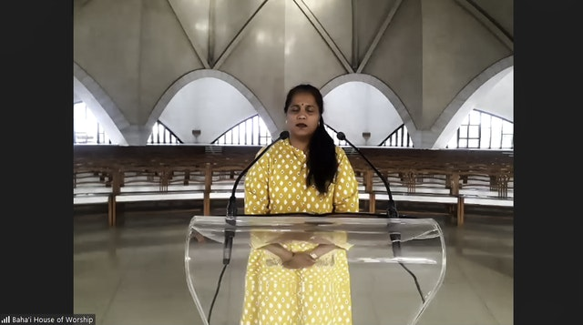 Live broadcasts of devotional programs from the Baha'i House of Worship in India and online gatherings for collective prayer in the country have brought many people together, allaying anxieties and inspiring hope.