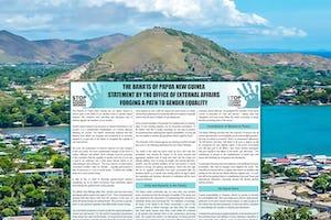 L'Assemblée spirituelle nationale des bahá'ís de Papouasie-Nouvelle-Guinée a publié une [déclaration](https://media.bahai.org.pg/wp-content/uploads/2020/06/The-equality-of-men-and-women-Online-OEA-Press-Statement-FINAL.pdf) sur l'égalité des femmes et des hommes, en réponse à une préoccupation mondiale qui a été exacerbée pendant la pandémie.