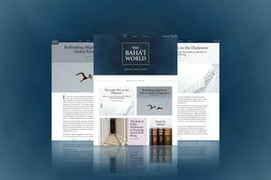 Two new articles have been published today in the online publication [*The Baha'i World*](https://bahaiworld.bahai.org/), as part of a series focusing on major issues facing societies in the wake of the pandemic.