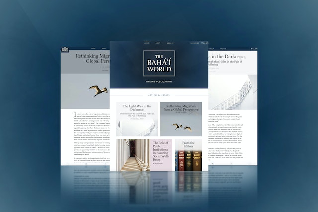 Two new articles have been published today in the online publication The Baha'i World, as part of a series focusing on major issues facing societies in the wake of the pandemic.