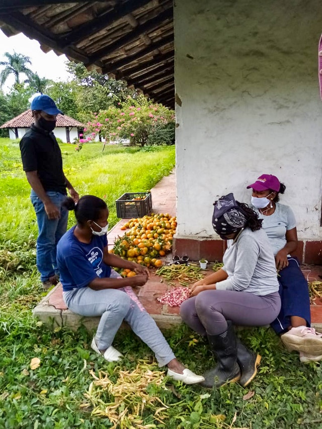 At a facility of the University Center for Rural Wellbeing in Perico Negro, Cauca, Colombia, a group of friends has been learning to cultivate various crops on a 2 hectare site, providing some 50 families with access to healthy food.