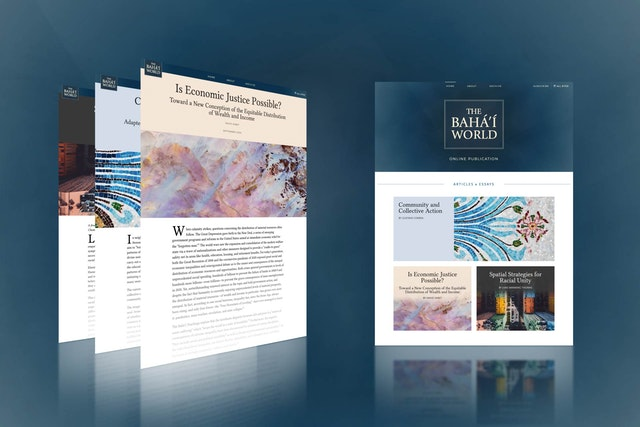 The Bahá'í World website has published three new articles on themes highly relevant to the well-being and progress of humanity.