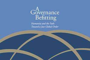 La Communauté internationale bahá'íe a publié une déclaration intitulée A Governance Befitting: Humanity and the Path Toward a Just Global Order (Une gouvernance adaptée : l'Humanité et la voie vers un Ordre mondial juste), marquant le 75e anniversaire des Nations unies.