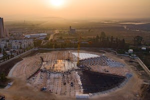 Following the announcement of the [design concept](https://news.bahai.org/story/1353/) for the Shrine of 'Abdu'l-Bahá some months ago, the foundations of the edifice have now been laid and construction is approaching a new stage.