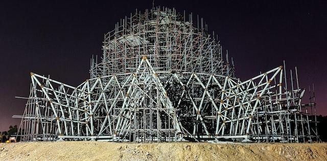 Certaines parties du système structurel sont en voie d'achèvement.