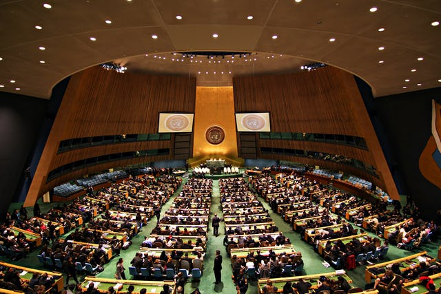 The United Nations General Assembly hall in New York. (Credit: Basil D Soufi, CC BY-SA)