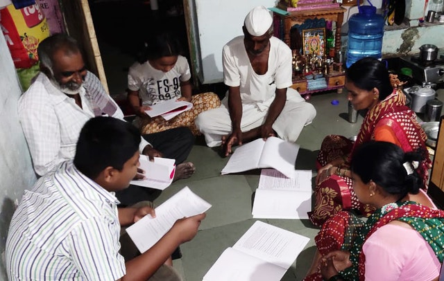 A family in India uses time together during the pandemic to read and discuss Bahá'í educational materials that build capacity for service to society.