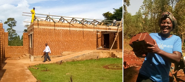 Volunteers from the village of Namawanga, Kenya, and the surrounding area joined together to undertake the construction of an 800-square-meter educational facility for their village.