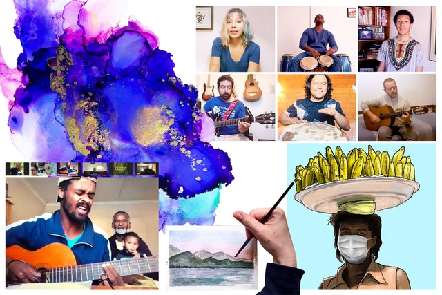 People of all ages, especially youth, have found ways to uplift the spirits of their fellow citizens through music, podcasts, paintings and drawings, theatre, puppet shows, poetry, and digital designs. Such works have focused on revealing the beauty that exists in the world and conveying new perspectives on current circumstances.