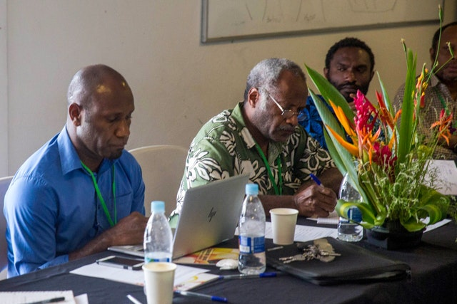 Many activities in Vanuatu have been permitted by the government, including in-person gatherings, as the country has remained largely free of the coronavirus. Participants at a gathering on education organized by the Bahá'í community of Vanuatu.
