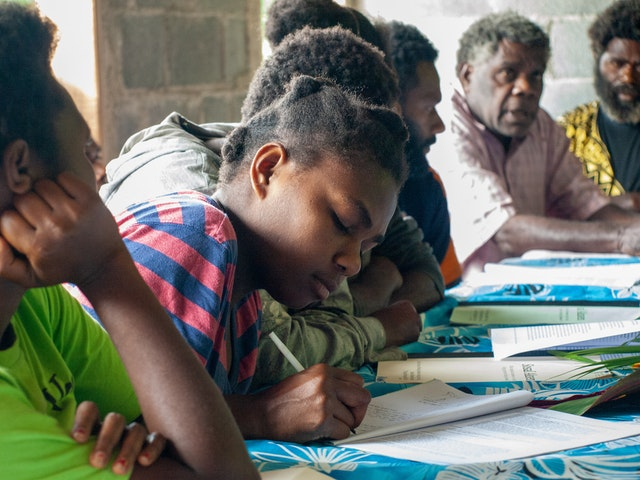 Many activities in Vanuatu have been permitted by the government, including in-person gatherings, as the country has remained largely free of the coronavirus. A forum in Namasmetene, Tanna, organized by the Bahá'í community where leaders and community members, including youth, discussed themes related to the material and spiritual progress of their community.
