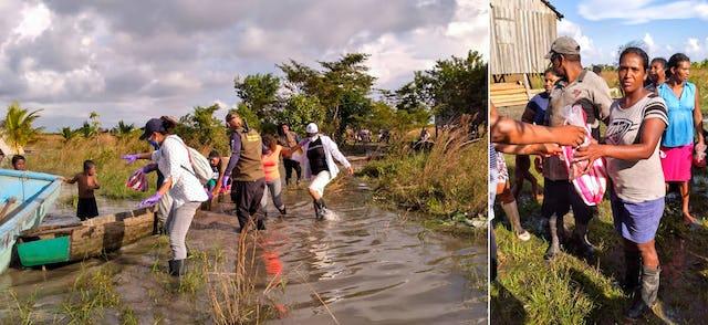 La red establecida por el comité de emergencia ha sido fundamental para canalizar a las personas y los recursos hacia las zonas necesitadas.