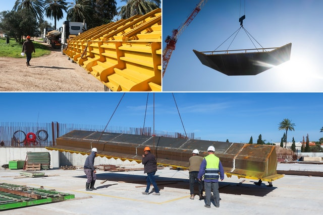 Panels for the custom-made formwork that will shape the walls have now been delivered to the site.