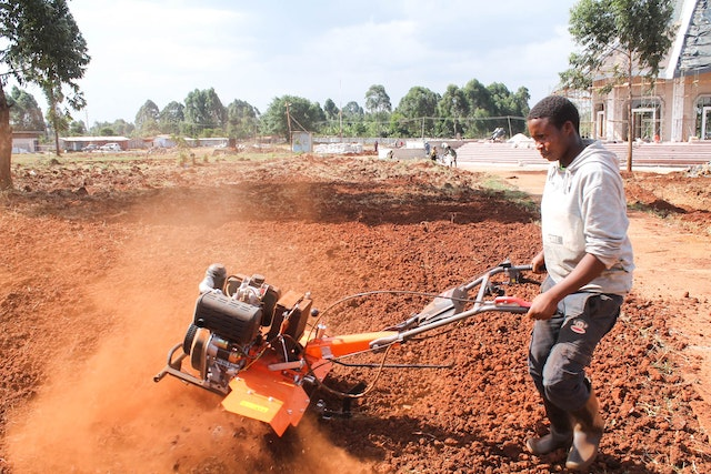 Local residents have played an important role in assisting with various tasks on the site, including with preparations for gardens that will surround the temple.