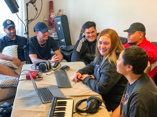 """In-person gatherings held according to safety measures required by the government. The vibrant community life in Mount Druitt has recently given rise to an initiative, titled """"Manifold"""", to produce songs that express the youth's highest aspirations for their society."""