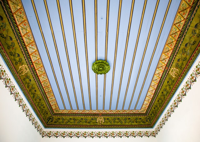A restored ceiling in the House of 'Abbúd.
