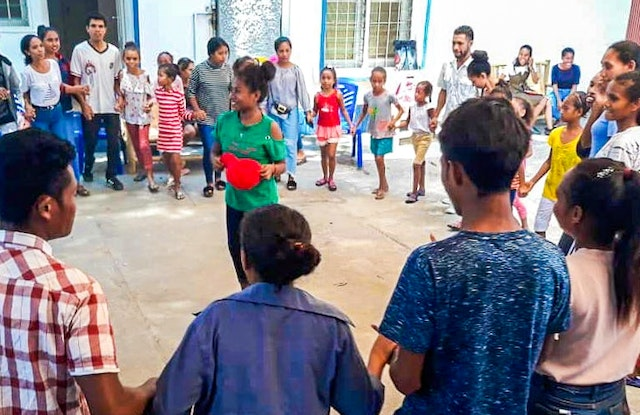 Photograph taken before the current health crisis. In recent years, efforts by the Bahá'í community of Timor-Leste to establish community-building activities in a growing number of cities and villages have paved the way for establishing the National Spiritual Assembly.