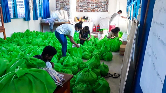 Relief efforts carried out according to safety measures required by the government. The task force has facilitated the distribution of some 1,400 packages of food, mosquito nets, and other essentials that have assisted more than 7,000 people.
