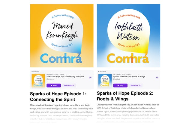 Comhrá, meaning friendly conversation in Irish, is a podcast by the Bahá'ís of Ireland providing a window into grassroots responses to issues facing society.