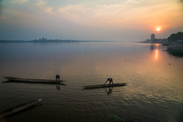 A view of the river near Bangui, the capital of the Central African Republic. A years-long armed conflict in the country has disrupted life and displaced hundreds of thousands of people.