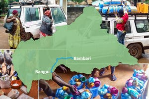 Les membres d'un comité d'urgence établi par l'Assemblée spirituelle nationale bahá'íe de la RCA ont parcouru des centaines de kilomètres de Bangui, la capitale, à la ville de Bambari, s'arrêtant dans les villes en cours de route pour fournir des produits de première nécessité.