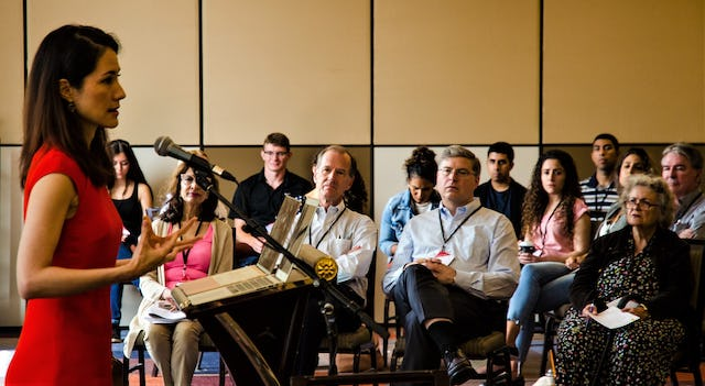 Photograph taken before the current health crisis. A session at a previous ABS conference.