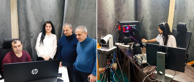 """A behind-the-scenes look at the production of a recent episode of """"Discourse TV,"""" an initiative of the Azerbaijani Bahá'í Office of External Affairs."""