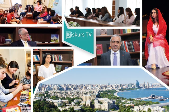 """The newly launched """"Discourse TV"""" interview program features profound conversations on topics such as the equality of women and men and the role of media in society. The program is part of the Azerbaijani Bahá'í Office of External Affairs' efforts to contribute to the prevalent discourses of the country."""