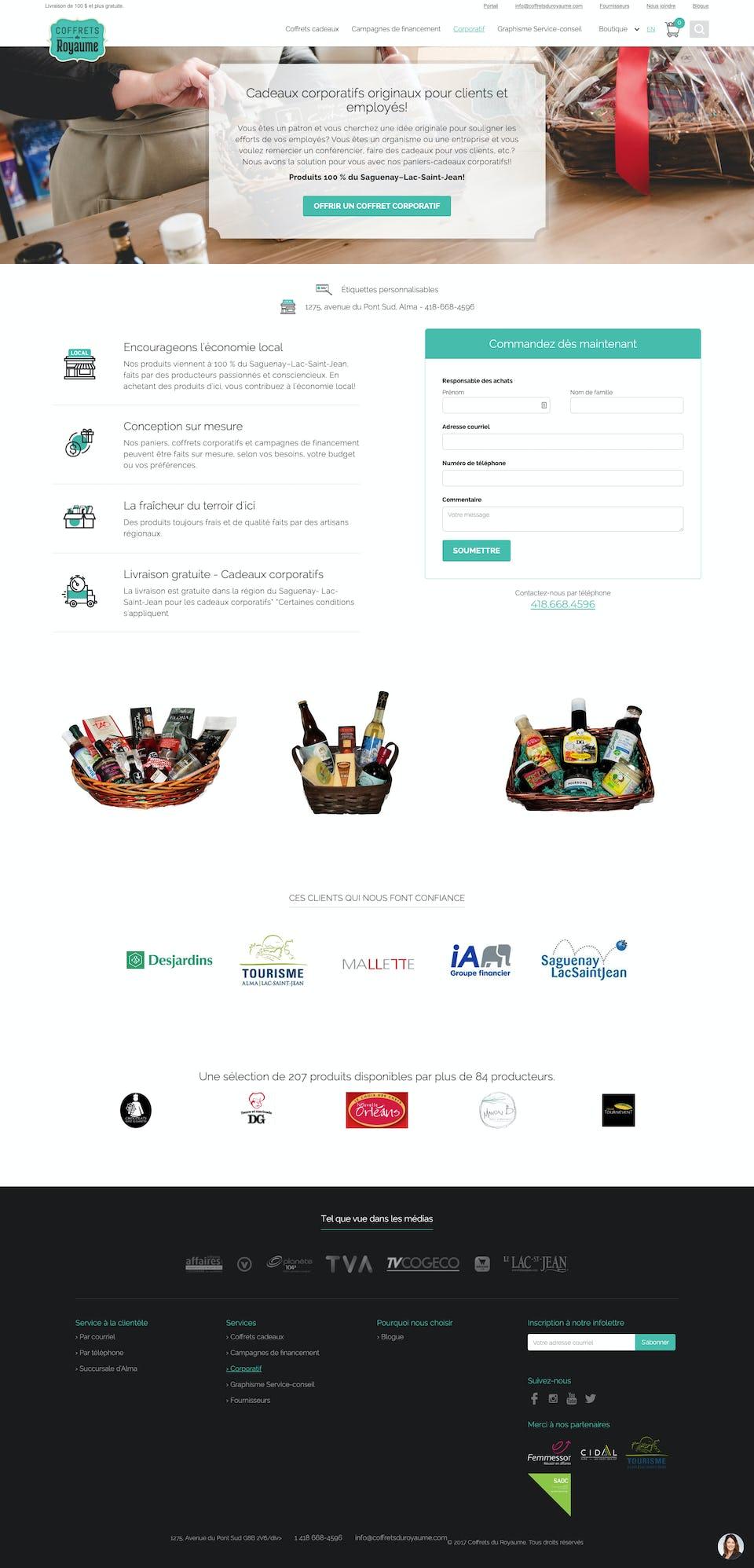 webflow project 3 - Coffrets du Royaume