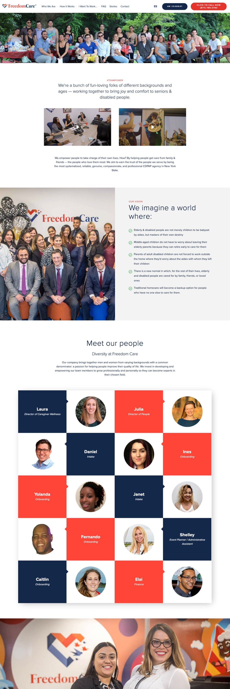 webflow project 5 - FreedomCare New York