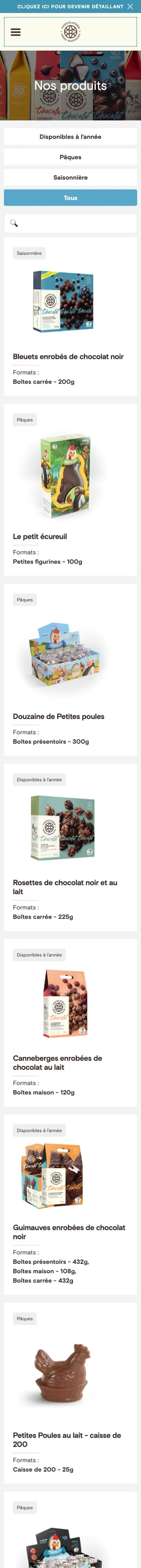 webflow project 6 - Chocolaterie des Pères Trappistes