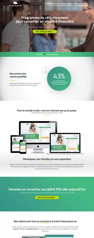 webflow project 1 - Prix Assurance Vie
