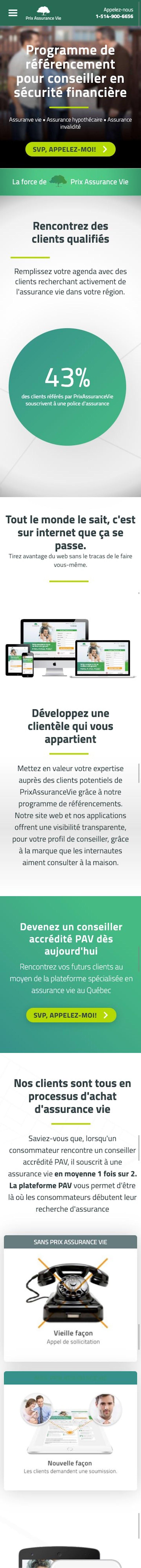 webflow project 4 - Prix Assurance Vie