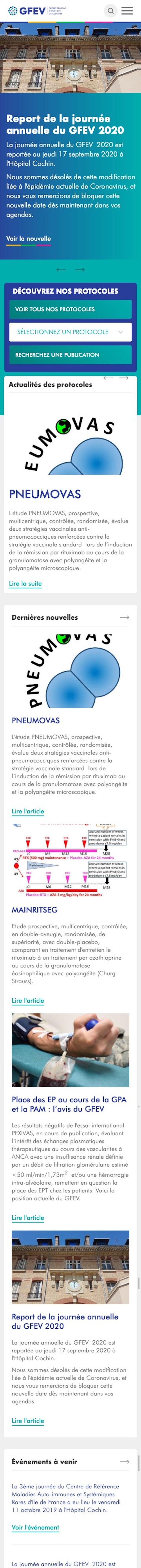 webflow project 3 - Groupe Français d'Etude des Vascularites (GFEV)