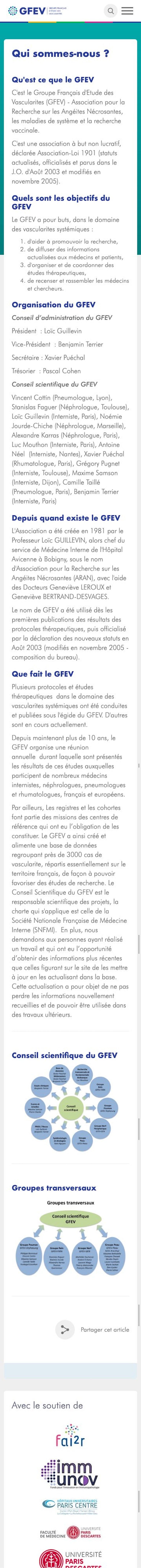 webflow project 4 - Groupe Français d'Etude des Vascularites (GFEV)